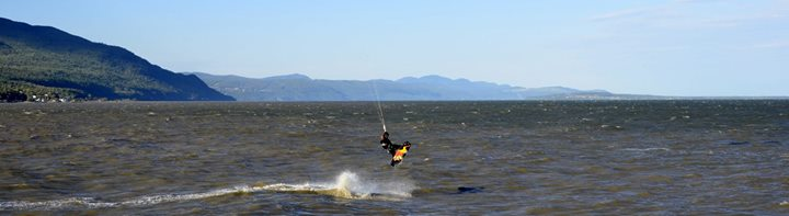 kiting a lile aux coudres